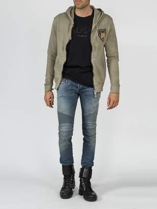 Balmain badge hoodie