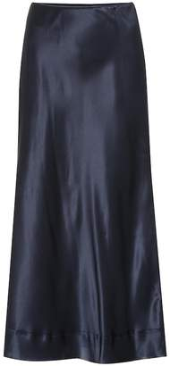 Lee Mathews Exclusive to Mytheresa Stella silk-satin midi skirt