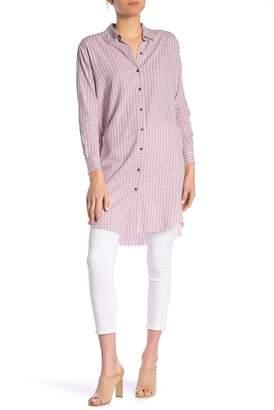 William Rast Angel Check Plaid Button Front Shirt Dress