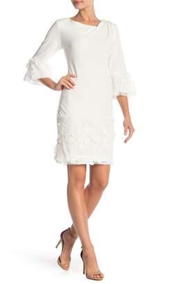 Robbie Bee 3\u002F4 Lace Bell Sleeve Dress
