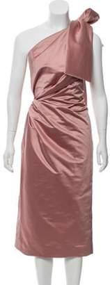 Oscar de la Renta 2018 Silk One-Shoulder Dress Mauve 2018 Silk One-Shoulder Dress