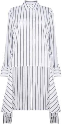 Jovonna London White Juno Striped Shirt Dress - 8 - White