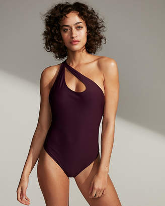 Express Strappy One Shoulder One-Piece Swimsuit