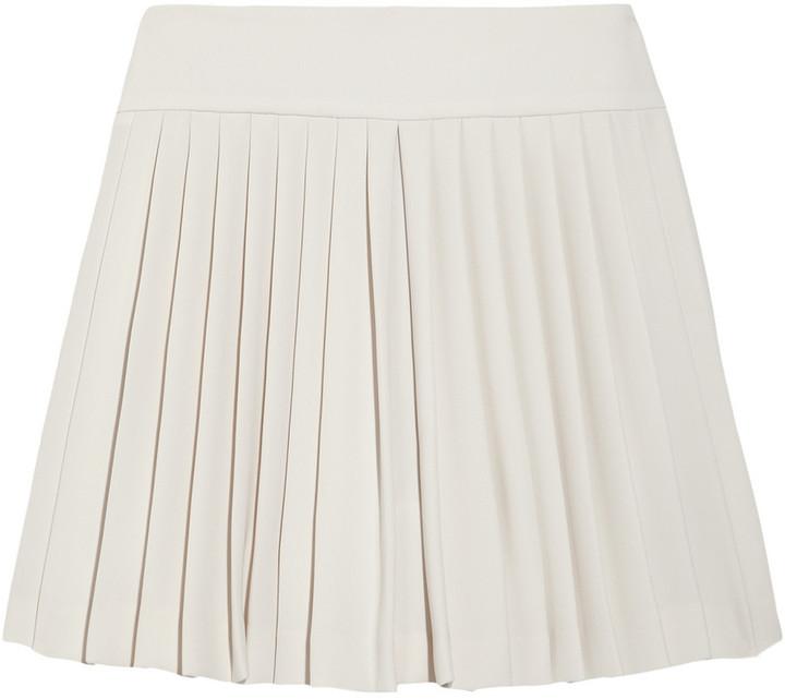 Tria Vamp pleated crepe-jersey mini skirt