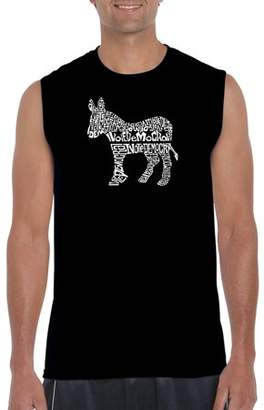 Pop Culture Big Men's Sleeveless T-Shirt - I Vote Democrat