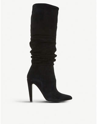 Steve Madden Carrie suede ruched boots