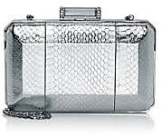 Judith Leiber Couture Women's Soho Metallic Snakeskin-Embossed Leather Clutch