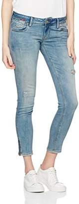 Tommy Jeans Women's UL Low Rise Skinny Natalie 7/8 Zip Jeans, (MID-WASH Blue Stretch 911), 32W x 34L
