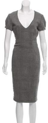 L'Agence Short Sleeve Midi Dress