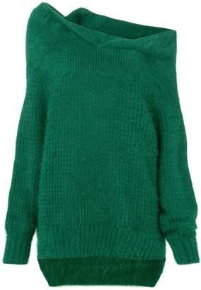 Roland Mouret one shoulder knit sweater