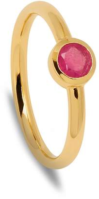 Lola Rose London - Curio Stud Stacker Ring Ruby