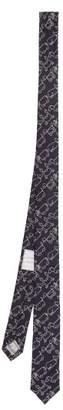 Thom Browne Toy Icon Jacquard Silk Tie - Mens - Navy