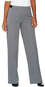 Nobrand NO BRAND H by Halston Studio Stretch Regular Full LengthWide Leg Pants