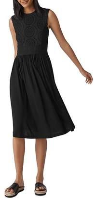 Whistles Seaton Eyelet-Stitched Dress