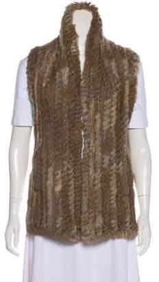 Marc by Marc Jacobs Fur Knit Vest