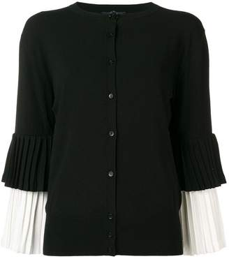Class Roberto Cavalli pleated sleeve cardigan