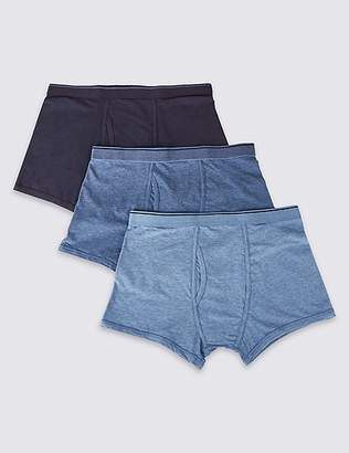 """Marks and Spencer 3 Pack Cool & Freshâ""""¢ Stretch Cotton Trunks"""
