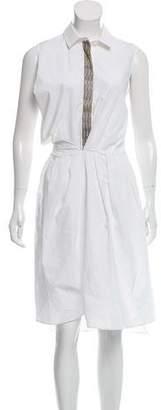 Brunello Cucinelli Sleeveless Shirt Dress