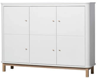 Rails Oliver Furniture Multi-Storage 3 Door Oak Dresser