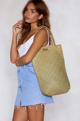 Nasty Gal WANT All My Woven Tote Bag