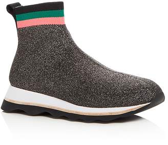 Loeffler Randall Women's Scout Knit High Top Sneakers