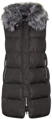 Sam Edelman Puffer Vest with Faux Fur Collar