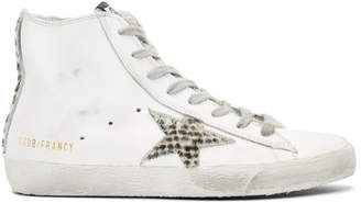Golden Goose White Fancy Pony Star Sneakers