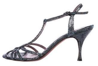 Jean-Michel Cazabat Sequin Open-Toe Sandals
