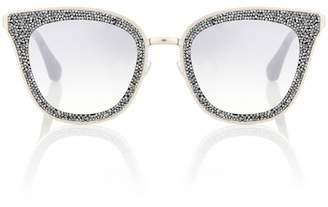 Jimmy Choo Lizzy crystal-embellished sunglasses