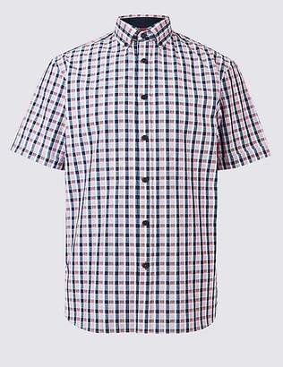 Marks and Spencer Pure Cotton Checked Shirt