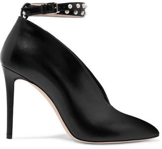 Jimmy Choo Lark Faux Pearl-embellished Leather Pumps - Black