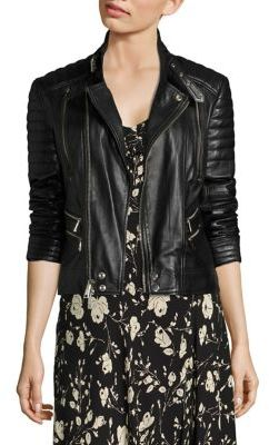 Polo Ralph Lauren Leather Moto Jacket $798 thestylecure.com