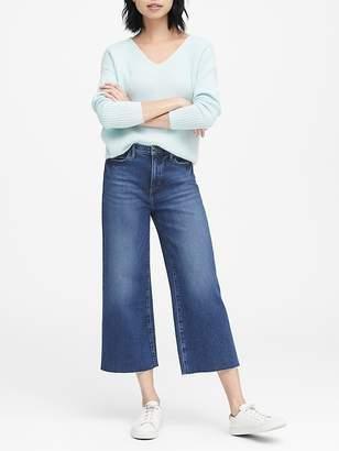 Banana Republic JAPAN EXCLUSIVE High-Rise Wide-Leg Cropped Jean