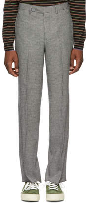 Noah NYC Black and White Houndstooth Trousers
