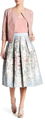Ted Baker Metallic Floral Pleated Skirt