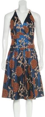Robert Rodriguez Floral Pattern Midi Dress