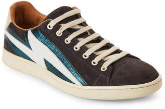 Marc Jacobs Lighting Bolt Suede Slip-On Sneakers