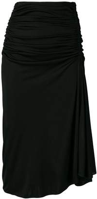 Emilio Pucci draped midi skirt