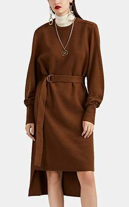 Chloé Women's Cashmere Belted High-Low Sweaterdress - Brown