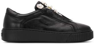 Tosca button embellished sneakers