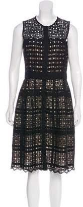 Oscar de la Renta Lace Midi Dress