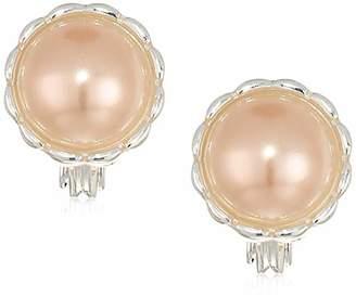 Anne Klein Women's Pearl Dome Clip Earrings
