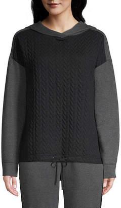 ST. JOHN'S BAY SJB ACTIVE Active Long Sleeve Quilted Fleece Hoodie