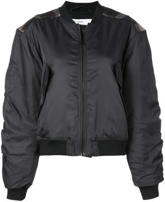 Designers Remix check patch bomber jacket