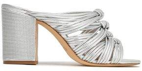 Rachel Zoe Odessa Knotted Metallic Leather Sandals