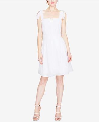 Rachel Roy Cotton Eyelet Fit & Flare Dress