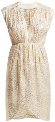 Masscob Troya Silk Blend Brocade Midi Dress - Womens - Gold