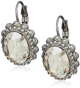 Sorrelli Mirage Decorative Oval Crystal Drop Earrings