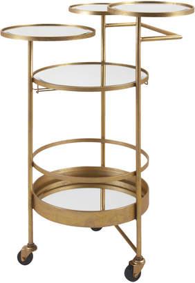 Imax Gold-Tone Bar Cart