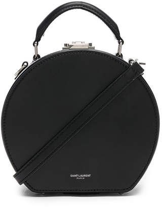 Saint Laurent Small Leather Mica Hat Case